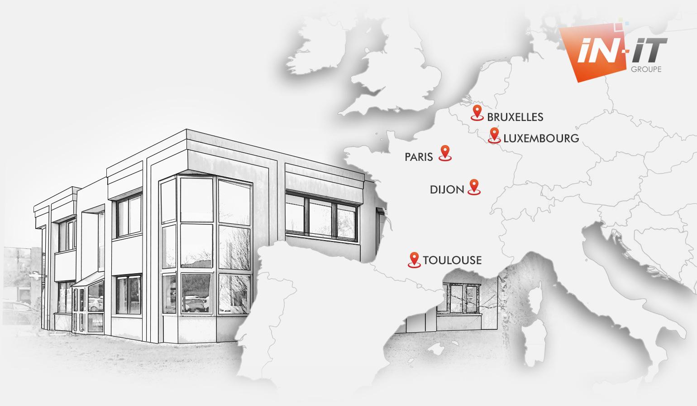 Les agences IN-IT en France et en Europe